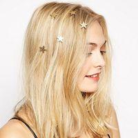 cabelo pino bling venda por atacado-Moda bling cabelo grampo de cabelo dourado acessórios de cabelo headband ouro barrette hair pins presente meninas frete grátis