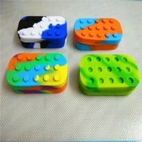 Wholesale Stick Stack - Multi-compartment Silicone Non-stick Jar Wax Container 6+1 Large Lego Slick Stack Wax Oil Cream Dab Jar