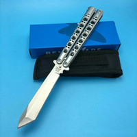 Wholesale Titanium Folding Pocket Knife - Benchmade BM47 Butterfly Balisong Spring Latch Titanium Steel Outdoor Tactical Pocket Folding knives Hunting Survival Tools original box
