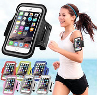 handy-armbinden großhandel-Iphone 7 wasserdichte sport lauf fall armband lauftasche workout armband halter pounch für iphone cell handy arm bag band