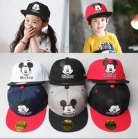 Wholesale Childrens Animal Caps - Free Shipping Mickey Mouse Kids Cartoon Snapback Caps Donald Duck child baseball cap childrens hats