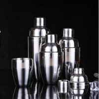 Wholesale Home Steel Bar - Stainless Steel Boston Shaker Cocktail Shaker Bottle Mixer Wine Martini Drinking Boston Style Shaker For Party Home Bar Tool CCA8379 30pcs
