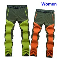 Wholesale Climbing Women Cloth - Wholesale-High Quality Women Stretch Pants Cycling Trousers Hiking Camping Climbing Fishing Trekking Pants Outdoor Quick Dry Cloth 1568