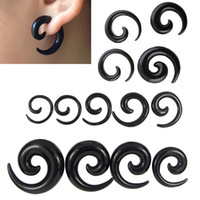 Wholesale Expanders Ears - 16pcs Acrylic Spiral Taper Tunnel Ear Stretcher Plugs Expanders Body Jewelry Drop Ship tragus ear plugs flesh tunnel Piercing 1.6mm-10mm