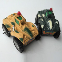Wholesale Diecast Tanks - NEW Electric Tank Trick Skip Cars Light&Music Tanks Toys Cartoon Electric Car Toy Model Diecast Vehicle Random Color