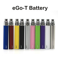 Wholesale Mt3 Clearomizers - E Cigarettes eGo-T Battery 900mAh Ego T Batteries 510 Thread 10 Colors Available Fast DHL Shipping Fit MT3 H2 CE4 CE5 Clearomizers