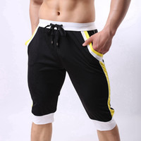 Wholesale Leisure Wear For Men - Wholesale-Summer Leisure Sports Shorts Men Running Sport Trunk Boardshorts Casual Jogging Training Trousers Fitness Outer Wear For Man