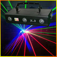 Wholesale Beam Laser Club Lighting - Powerful Beam Effect Light Three lens X-3 RGB 700mW Full Color Laser Light Pro Stage Lighting DJ Party Club Disco Ncessary Fast delivery