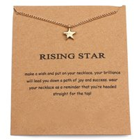 10PCS Rising Star Chain Collier Wish Card Cinq étoiles pointu Pentangle Pendentif Pendentif Collier Cadeau Bijoux