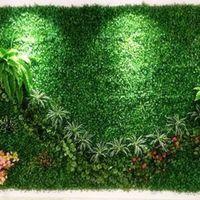 ingrosso tappetino artificiale per giardino-Criptazione artificiale di erba di plastica di simulazione di trasporto libero Simulazione falso pianta prato 25 x 25cm tappeto erboso per le decorazioni del giardino domestico