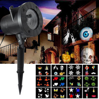 Wholesale Spotlight For Wedding - Halloween Decorations Projector lights outdoor Moving Rotating Projector LED Spotlights Waterproof projection lights for Wedding Christmas