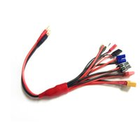 Wholesale Futaba Electric - Free shipping 4.0mm banana connector to Female Tamiya Futaba TRX EC3 JST XT60 Multifunctional Lipo charger RC charger adaptor