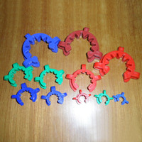Wholesale Glass Factory Wholesalers - 29mm 34mm 40mm 45mm joint glass bong plastic clip colorful plastic keck clip smoking accessories wholesale factory price nectar collector