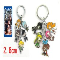 Wholesale Sword Art Online Key Chain - 1PC Anime Cartoon Sword Art Online Pendant Keychain Zinc Alloy Metal Key Chain Keyring Key Ring For Men Women Christmas Gift
