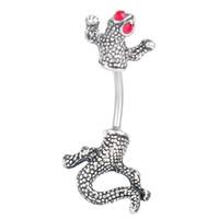 lagarto anéis venda por atacado-D0026-Retail (1 cor) do umbigo Lizard 035-01 Umbigo Anéis com piercing jóias anel de barriga como com imagens