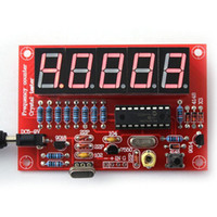 Wholesale Wholesale Frequency Meter - DIY Kits 1Hz-50MHz Crystal Oscillator Frequency Counter Meter Digital LED PIC New Arrival Measurement & Analysis Instruments