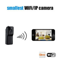 Wholesale Wireless Camera For Camcorder - 20pcs lot WiFi IP Camera Spy Hidden Camera Wireless Hidden Camera Portable Security Camcorder Video Recorder Mini DVR MD81S for App View