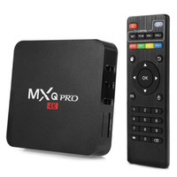 Wholesale Medium Plugs - New Original MXQ PRO 4K Smart TV Box Set-Top Box Android 5.1 S905 Quad Core 1GB 8GB ROM 2.4GHz WiFi Smart Media Player EU US Plug