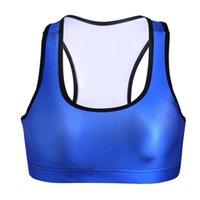 Wholesale Women Workout Slimming Vest - Wire Free Yoga Bras Workout Gym Vest 3D Print Jogging Sport Tank Tops Women Running Elastic T-shirt Slim Quakeproof Sleeveless Garment LNSsb