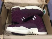 Atacado Air Retro 12 Bordeaux Basketball Shoes Masculino Sport Shoe Bordeaux 12s Sports Athletic Trainers High Quality Sneakers