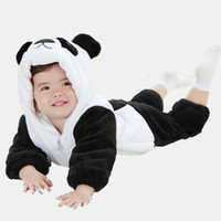 Wholesale baby clothes panda for sale - Group buy AbaoDo new arrival thick panda style baby rompers cute warm sleepsuit infants bodysuit long sleeve kids clothing wear drop shipping