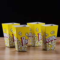 Wholesale Wedding Food Boxes - Food Safe Mini Party Paper Popcorn Boxes Candy Favor Bags Wedding Birthday Movie Party Supplies