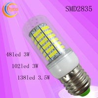 Wholesale E14 Led Smd Small - Small power led light bulbs LED corn light corn lamp 100-220V SMD2835 E27 E14 B22 3W 3.5W