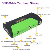 Wholesale Charger Notebook Batteries - New 50800mAh 12v Car Jump Starter Multifunction Power Bank Cellphone laptop notebook Charger Emergency Battery Charger
