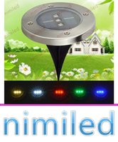 Wholesale New Lamp Decorative - nimi1053 2016 New 3 LED Solar LED Underground Light Lamp Outdoor LED Outdoor Garden Patio Buried Lights IP65 Waterproof Decorative