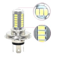 Wholesale- 2Pcs Super Bright H4 H7 ampoule Led 30W 6500K Phares Lampes Led Auto Avec 5630 33 Leds Car Lights Blanc 12V Automobiles