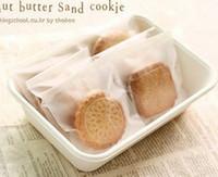 çerez paketleme torbaları toptan satış-400 adet / grup Selefon Fırçalama Çerez temizle Çanta / Hediye Ekmek Macaron Için Plastik Ambalaj Ambalaj / Noel 11.5 * 14.5 cm