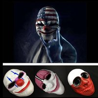 Wholesale Mask Horror Wolf - Halloween Clown Mask Game Payday 2 Chains Dallas Wolf Hoxton Costume Dress Props Cosplay Party Mask 1000pcs OOA2641