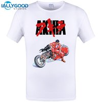 Wholesale Film Tee Shirts - 2017 New Design Akira Cult 1988 Japanese Animated Sci Fi Film T Shirt Mens Tokyo Cyberpunk Camisetas Tees Shirt Plus Size S-6XL