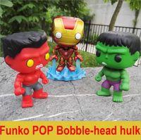 Wholesale Black Widow Women - Free shipping Hot 10cm Funko Pop Batman Superman Wonder Woman Knightmare Batman Black widow Iron Man Green Giant Toy