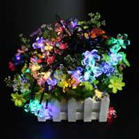 Wholesale Solar Powered Automatic M LED String Fairy Garden Light outdoor waterproof Christmas Party String Fairy Decoration Lamp