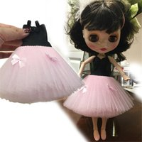 Wholesale Japanese Kid Style - Cute Western-style Dress Skirt Dolls Clothes Accessories For Blythe Licca Barbi Azone Pulip Monster Doll Accessories Kids toy