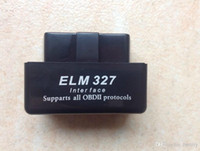 ford super obd al por mayor-Super Mini coche negro blanco azul ELM327 Bluetooth OBD Bluetooth Elm 327 BT 3 colores versión 2.1