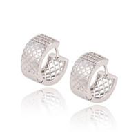 Wholesale Hoop Earrings Wholesale Price - Xuping Valentine Day Rhodium Plated Wedding Earrings Quality Zirconia Huggie Wholesale Price Copper Earhoops Huggie For Gifts DH-12-9070613
