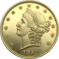 Wholesale United states of America coins liberty head gold brass copy coin