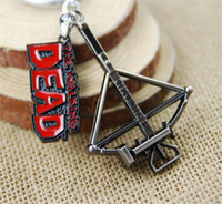 Wholesale Walking Dead Bag - Retail Pack Walking Dead bow pendant Keychain key rings bag hangs pendants for women men keyring keychains jewelry 170460