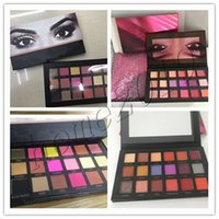 Wholesale Pics Natural - In Stock hot Chrismas 18 Colors Eyeshadow Rose Gold Textured Pallete Make up Eye shadow Palette top quality real pics with free gifts
