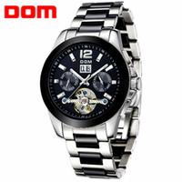 Wholesale Dom Ceramic - Watch Men Brand Luxury DOM Ceramic Mechanical Watches Fashion casual business reloj hombre sport Wristwatch relogio masculino 65