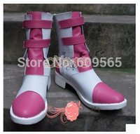 Wholesale Serah Costume - Wholesale-Free shipping! Final Fantasy Serah Farron Cosplay Costume Boots Boot Shoes Shoe