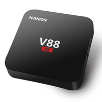 Wholesale Google Mini Pc Smart Tv - V88 Android TV Box Rockchip 3229 Smart Boxes 4K Quad core 16.1version Full Loaded support 3D Free Movies Online Mini PC