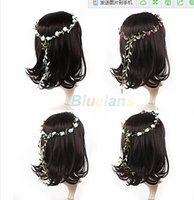 3pcs Wholesale Boho Dame Girl Floral Flower Wedding Girlande Stirn Haar Kopf Band Haar Zubehör 021L 2VFR