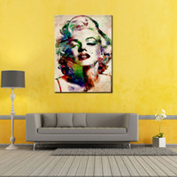 Wholesale Marilyn Print - 1 Piece Sexy Marilyn Monroe Painting Pictures Abstract Wall Art Prints on Canvas Picture for Living Room Home Decoration Unframed