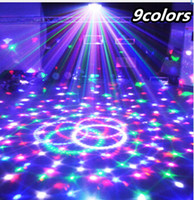Wholesale christmas laser stage - 9 Colors 27W Crystal Magic Ball Led Stage Lamp 21Modes Disco Laser Light Party Lights Sound Control Christmas Laser Projector