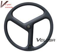 велотренажеры оптовых-Супер легкий дорожный велосипед полный углерода три говорил / 3-спицевое колесо, 40 мм доводчик для дороги / трек / Триатлон / время пробный велосипед колеса
