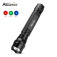 Wholesale Blue Led Driving Lights - 501C Tactical LED Flashlight Handheld Flashlight Tactical Torch Water Resistant Lamp for Red blue green Tactical led light Outdoor Sports