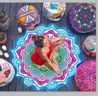 Wholesale Camouflage Blanket - Polygon macrame Shawls round mandala tapestry Indian Wall Hanging Beach Towel Yoga Mat Picnic Blanket Shawl Bohemia Decor Carpet Rug 2246